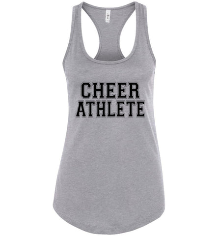 Image of Cheer Athlete Cheer Tank sports gray