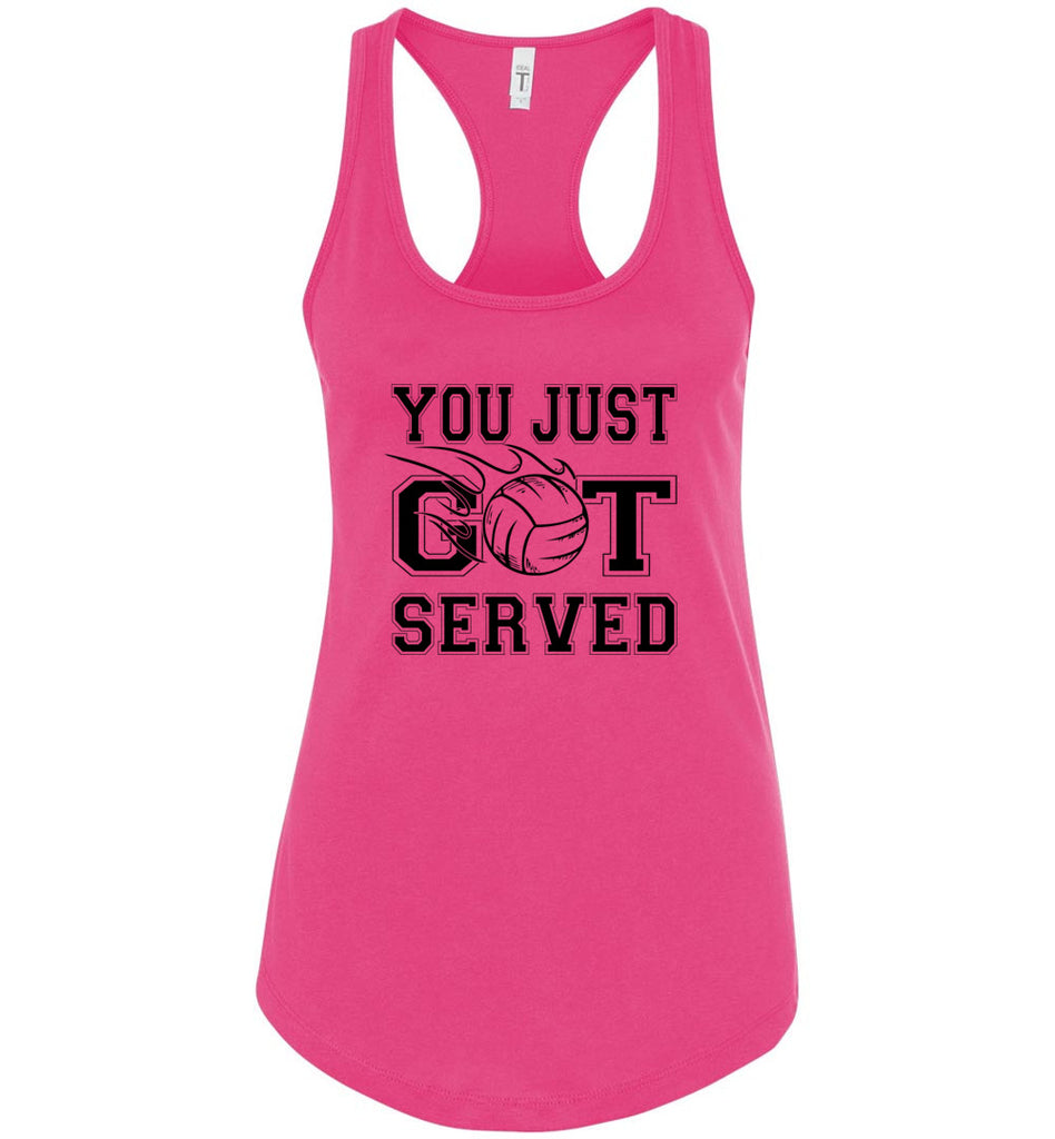 You Just Got Served Volleyball Tank Top raspberry