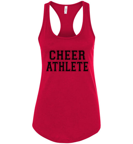 Image of Cheer Athlete Cheer Tank red