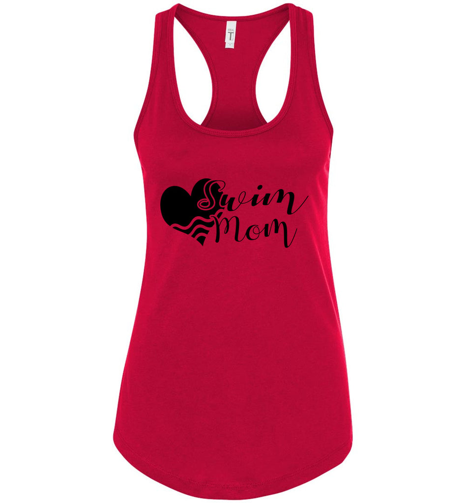 Swim Mom Tank Top red