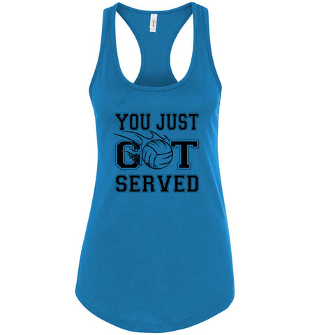 Image of You Just Got Served Volleyball Tank Top turquoise