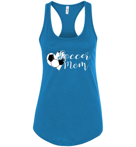 Image of Soccer Mom Tank Top racerback turquoise