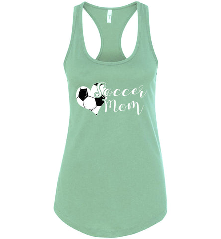 Image of Soccer Mom Tank Top racerback  mint