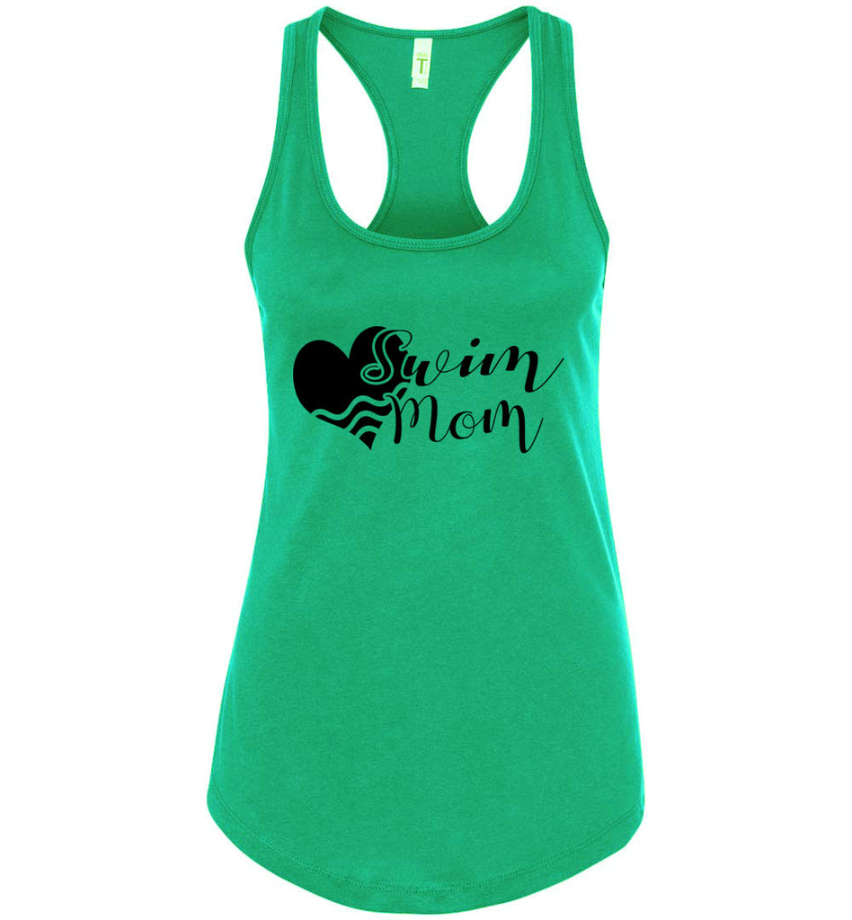 Swim Mom Tank Top green