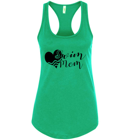 Image of Swim Mom Tank Top green