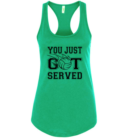 Image of You Just Got Served Volleyball Tank Top Kelly green