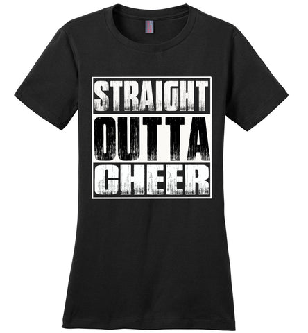 Image of Straight Outta Cheer Shirt ladies crew