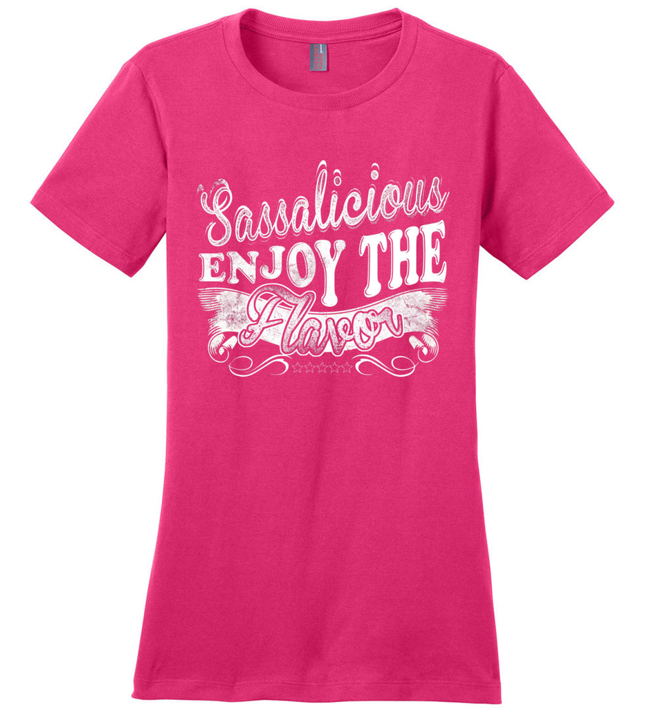 Sassalicious Enjoy The Flavor! Sassy Shirts ladies pink