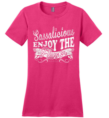 Image of Sassalicious Enjoy The Flavor! Sassy Shirts ladies pink