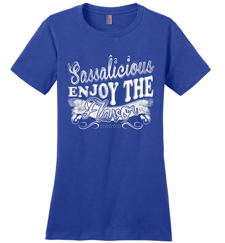 Image of Sassalicious Enjoy The Flavor! Sassy Shirts ladies royal