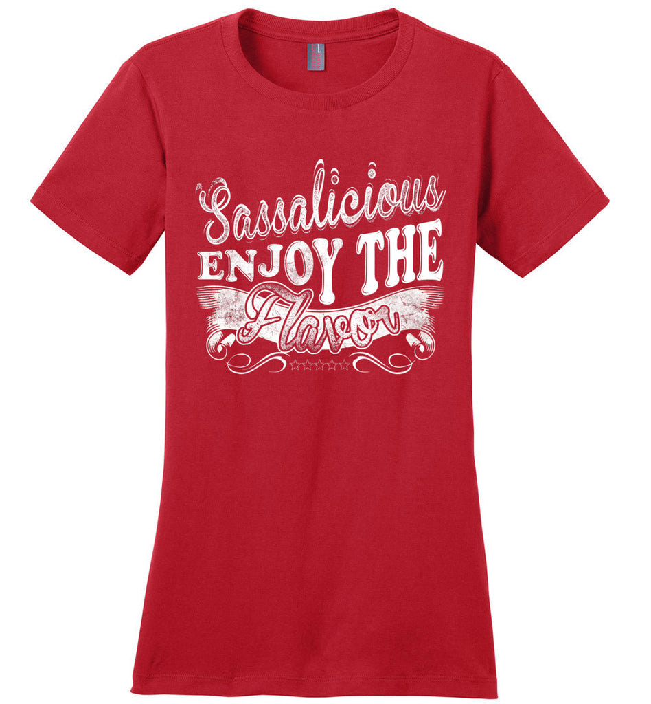 Sassalicious Enjoy The Flavor! Sassy Shirts ladies red