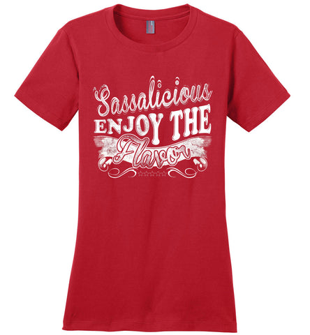 Image of Sassalicious Enjoy The Flavor! Sassy Shirts ladies red