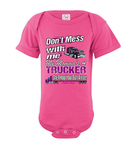 Image of Don't Mess With Me My Momma's A Trucker Kid's Trucker Tee opk