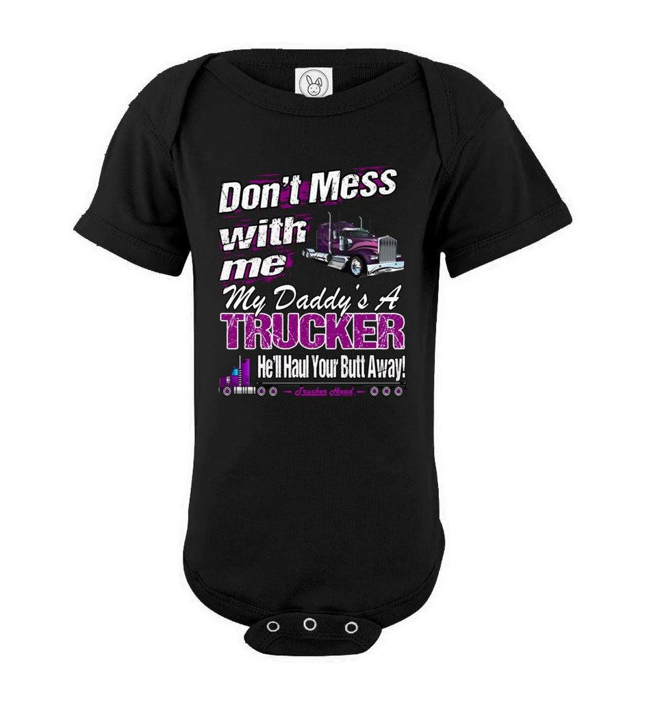 Don't Mess With Me My Daddy's A Trucker Kid's Trucker Tee ssob