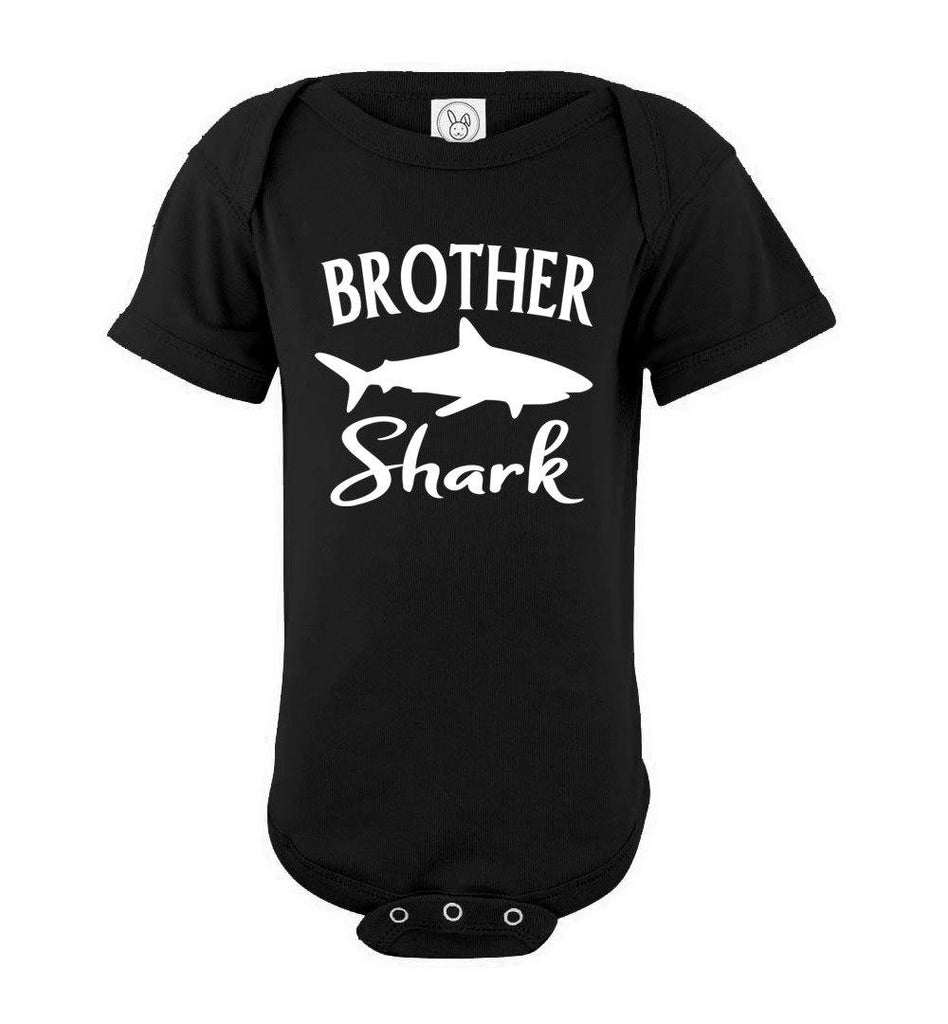 Brother Shark Shirt onesie black