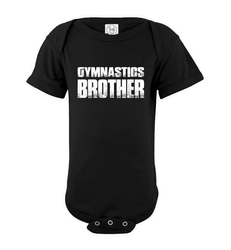 Gymnastics Brother onesie black