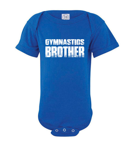 Gymnastics Brother onesie royal