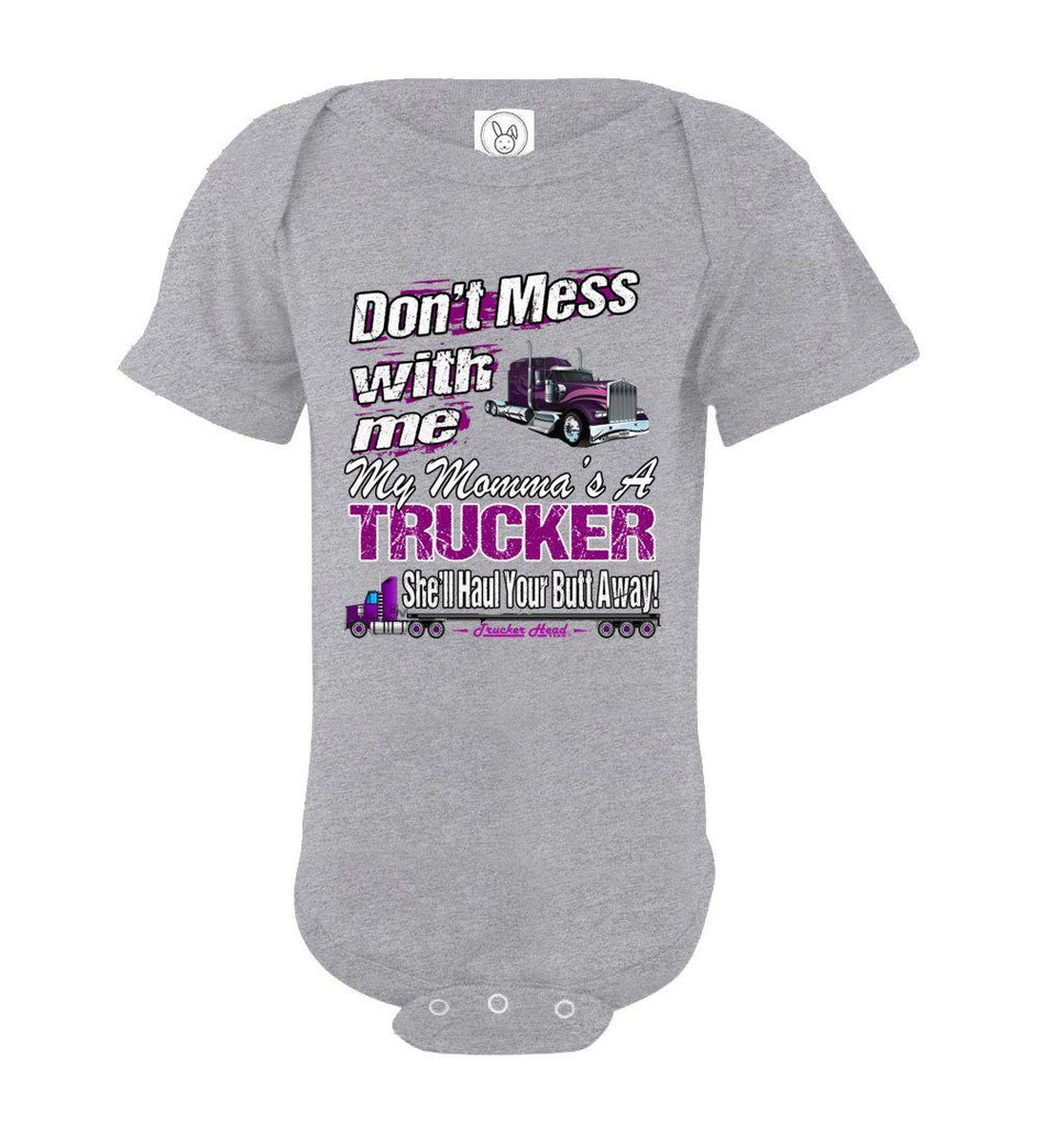 Don't Mess With Me My Momma's A Trucker Kid's Trucker Tee osg