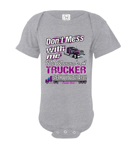 Image of Don't Mess With Me My Momma's A Trucker Kid's Trucker Tee osg