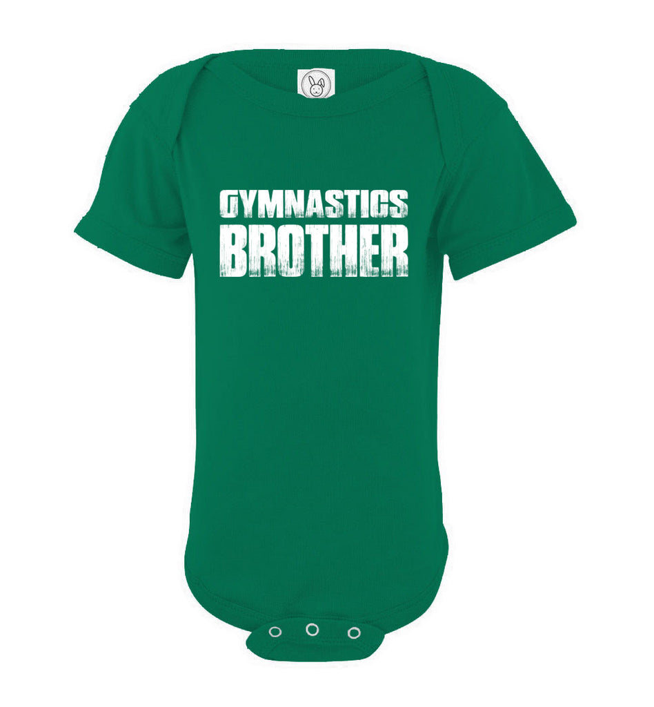 Gymnastics Brother onesie green