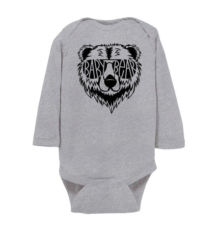 Image of Baby Bear Infant long sleeve Onesie gray