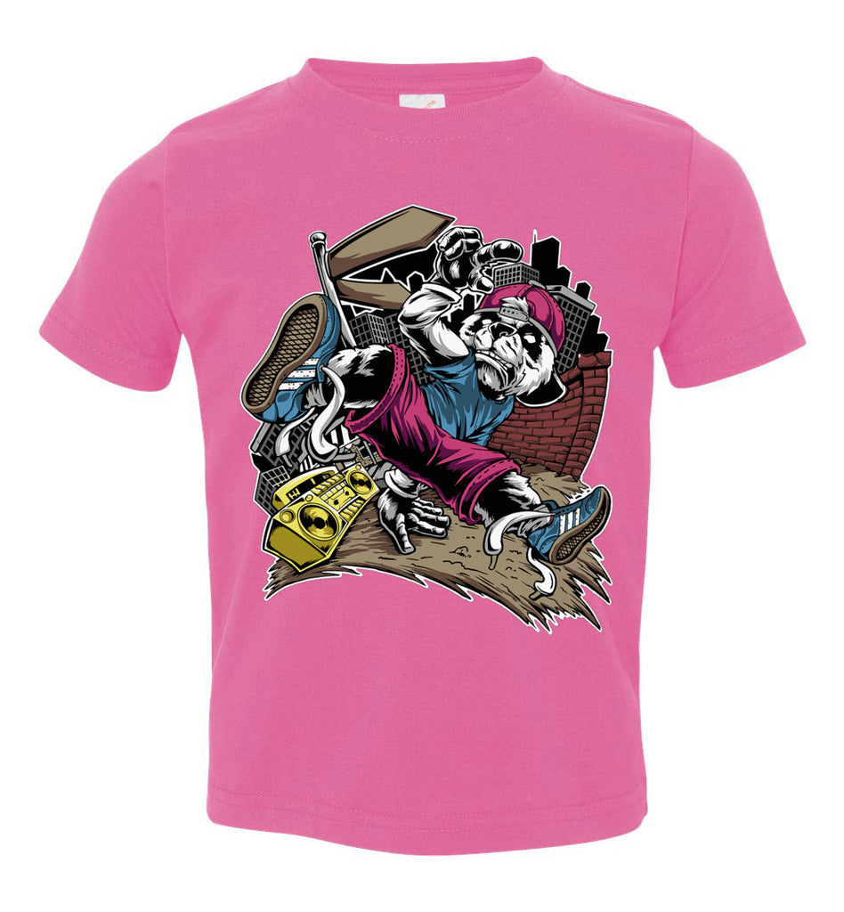 Break Dance Panda Hip Hop T Shirts toddler pink