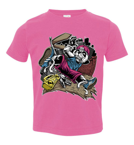 Image of Break Dance Panda Hip Hop T Shirts toddler pink