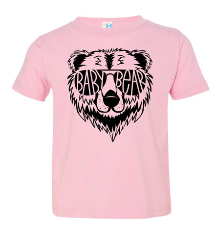 Image of Baby Bear Toddler Tee Or Infant Onesie pink