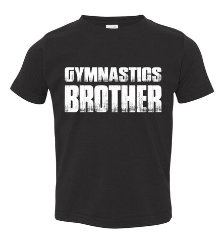 Gymnastics Brother Shirt toddler black