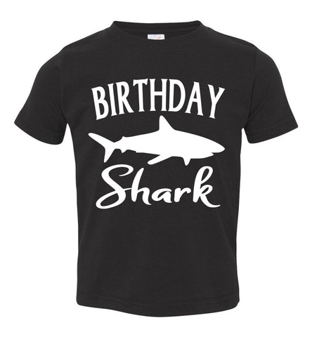 Birthday Shark Shirt toddler black