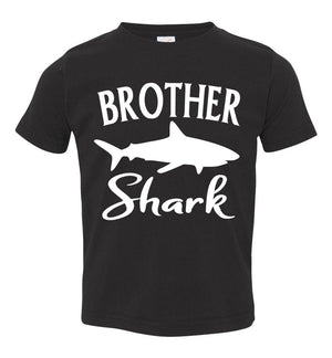Brother Shark Shirt toddler black