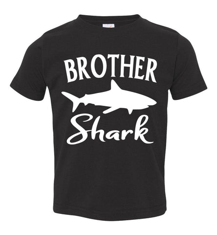 Image of Brother Shark Shirt toddler black