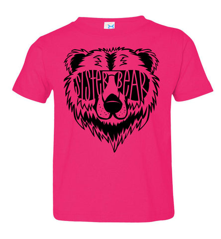 Image of Sister Bear Shirt toddler hot pink