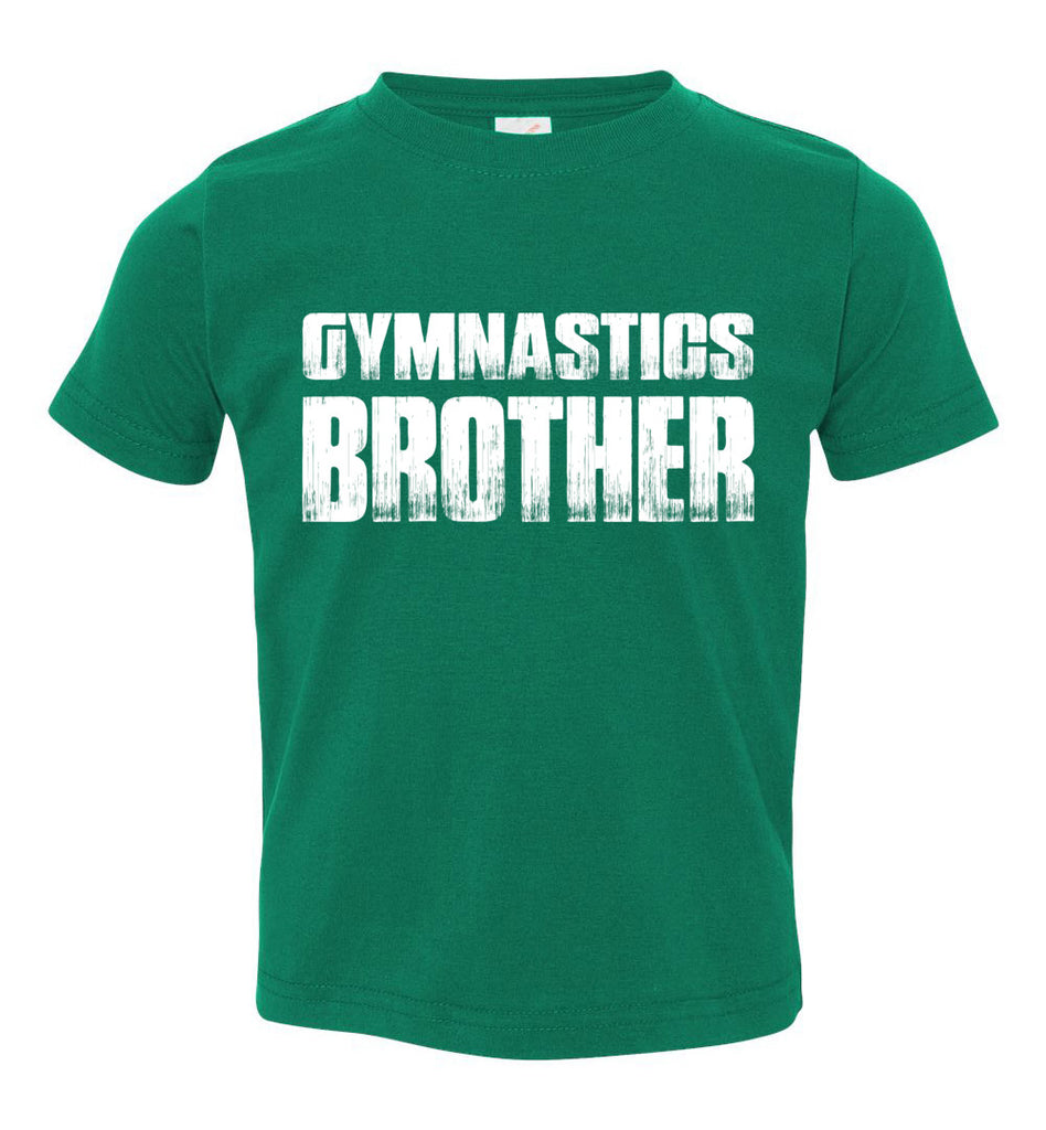 Gymnastics Brother Shirt toddler green
