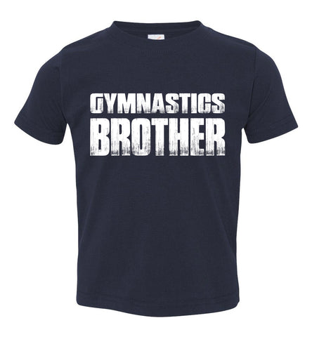 Gymnastics Brother Shirt toddler navy