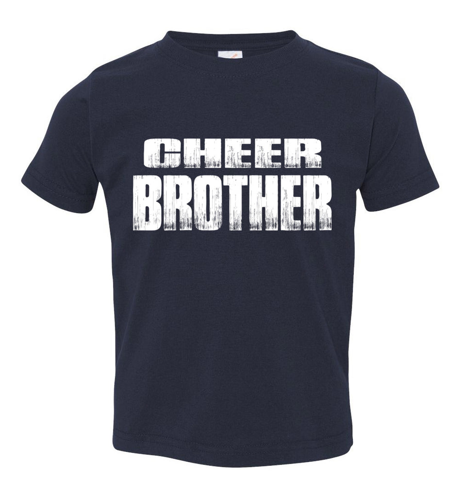 Cheer Brother Shirt | Cheer Brother Onesie Toddler navy