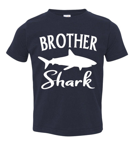 Brother Shark Shirt toddler navy