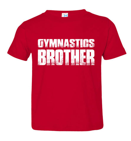 Gymnastics Brother Shirt toddler red