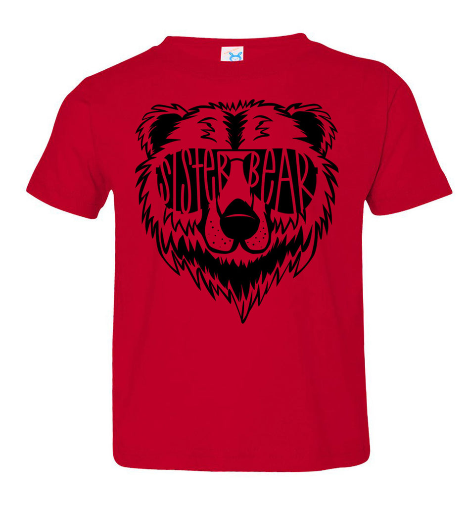 Sister Bear Shirt toddler red
