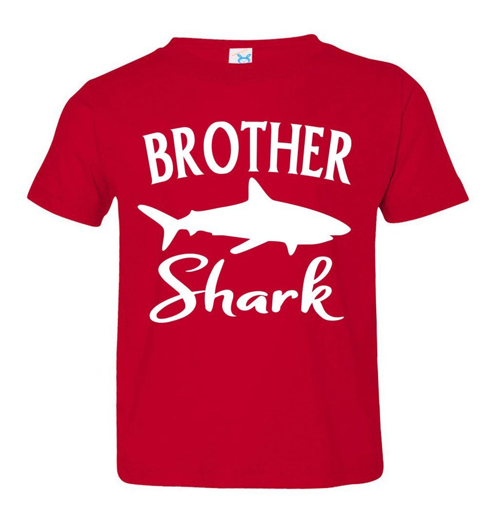 Brother Shark Shirt toddler red