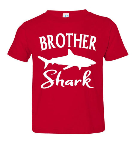 Image of Brother Shark Shirt toddler red