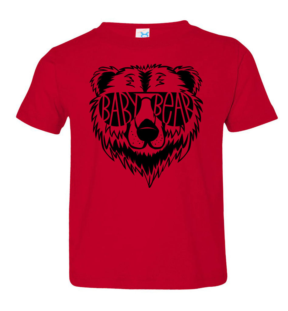 Baby Bear Toddler Tee Or Infant Onesie red