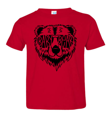 Image of Baby Bear Toddler Tee Or Infant Onesie red