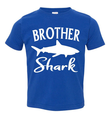 Image of Brother Shark Shirt toddler royal