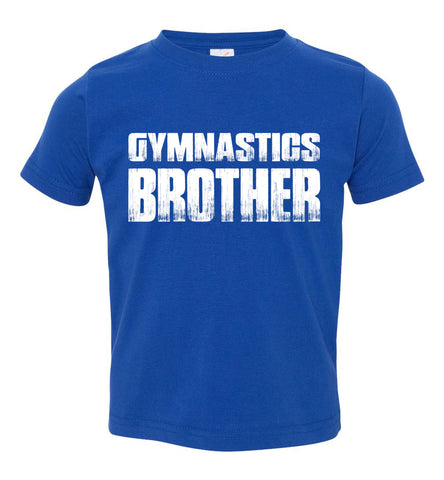 Image of Gymnastics Brother Shirt toddler royal