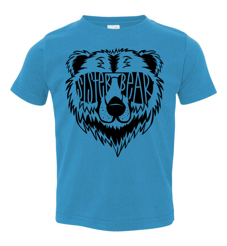 Sister Bear Shirt toddler turquoise