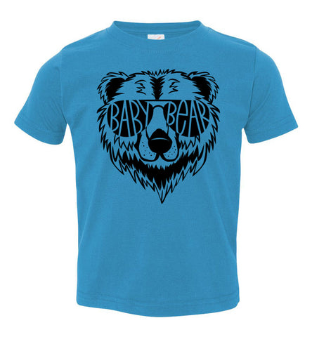 Image of Baby Bear Toddler Tee Or Infant Onesie turquoise