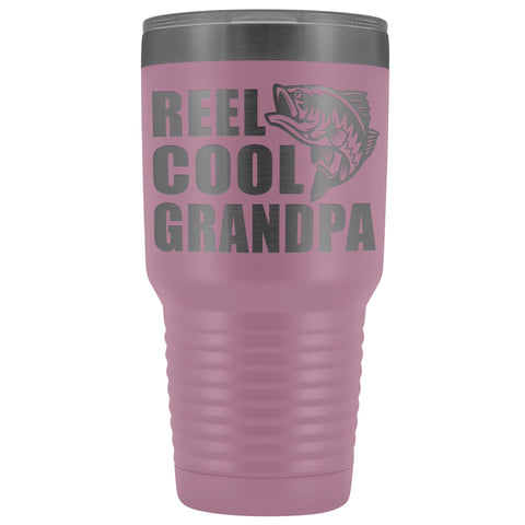 Image of Reel Cool Grandpa 30oz. Tumblers Grandpa Fishing Travel Mug light purple