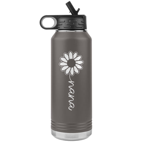 Sunflower Nana Water Bottle Tumblers pewter