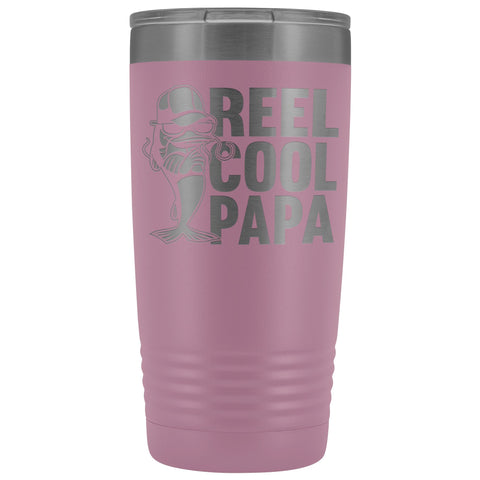 Reel Cool Papa Fishing Papa 20oz Tumbler light purple